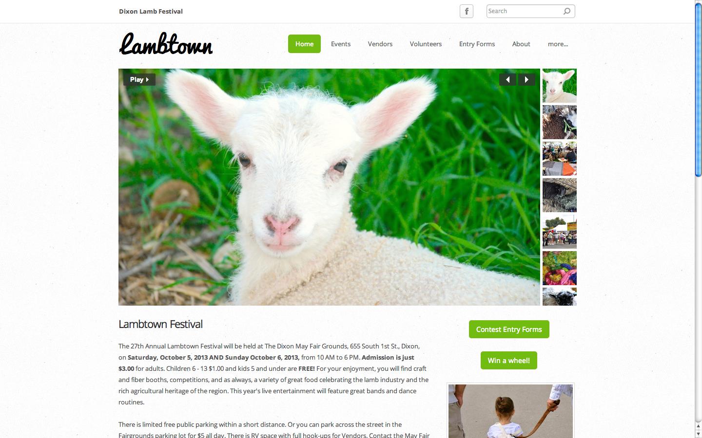 Lambtown Portfolio Sacramento Web Design