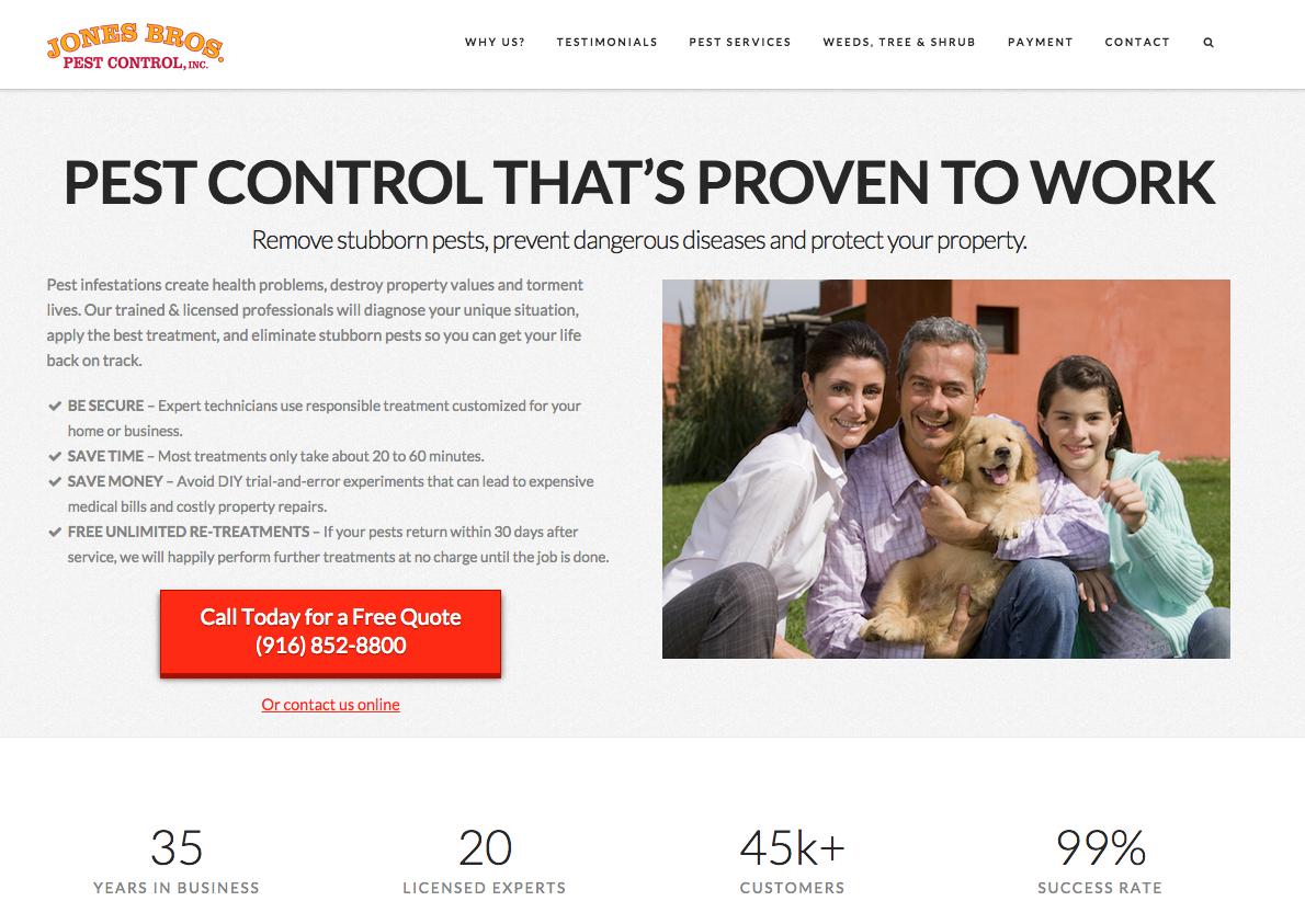 Pest Control Sacramento Web Design